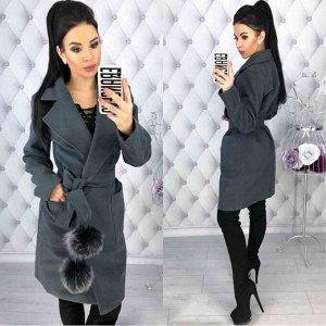 Пальто Описание: Пальто. Удобная и практичная модель. Пояс является аксессуаром и может не входить в комплект