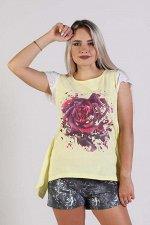 """Комплект """"Роза"""" с шортами, желтый"""