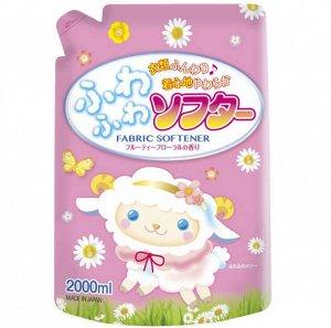 """Кондиционер для стирки Rocket Soap """"Fuwafuwa"""" воздушная мягкость Цветочный, 2л, м/у, 1/6"""