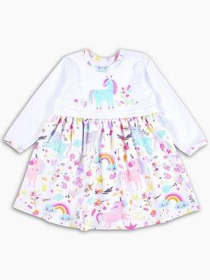 Платье Единорожка цвет Разноцветный