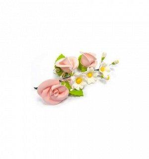 """Украшение для торта """"Букет Розовые Розы"""" сахарное"""