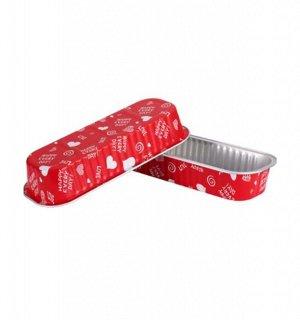 """Форма для выпечки прямоугольная алюминиевая """"Счастливый день"""" 200мл  (1 шт.)"""