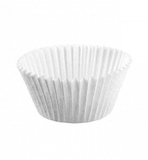 Форма бумажная для капкейков (капсула) белая d75/55мм h42мм (14шт.)