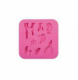 Форма силиконовая 'Для девочек' 130х130мм