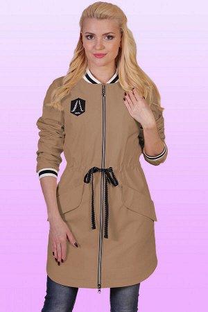 Кэмел Плащ-бомбер стал популярной одеждой в молодежной среде. Но не только юные девушки, а и дамы вполне солидного возраста не прочь включить такой плащ в свой гардероб. Центральная застежка на молнии