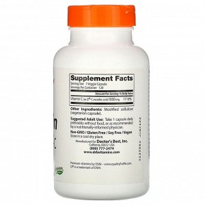 Doctor's Best, Витамин С с Q-C, 1000 мг, 120 вегетарианских капсул