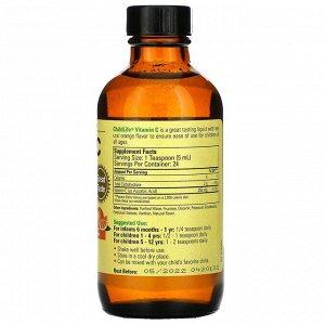 ChildLife, Essentials, витамин C в жидкой форме, натуральный апельсиновый вкус, 118,5 мл (4 жидк. унции)