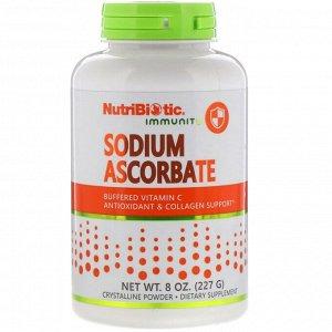 Витамин C NutriBiotic, Буферизованный содой витамин C, кристаллический порошок, 8 унций (227 г) NutriBiotic аскорбат натрия – это не горький, некислотный, полностью реагированный, забуференный витамин