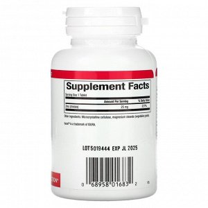 Natural Factors, хелат цинка, 25 мг, 90 таблеток