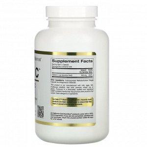 California Gold Nutrition, Gold C, витамин C, 500 мг, 240 вегетарианских капсул