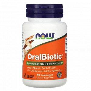 Now Foods, OralBiotic, 60 леденцов