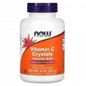 Now Foods, витамин C в кристаллах, 227 г (8 унций)