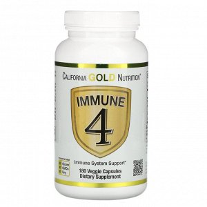 California Gold Nutrition, Immune 4, средство для укрепления иммунитета, 180 вегетарианских капсул