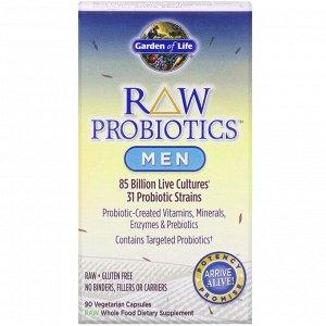 Garden of Life, Пробиотики RAW для мужчин, 85 миллиардов живых культур, 90 вегетарианских капсул