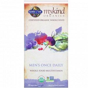 Garden of Life, MyKind Organics, комплекс для мужчин, для ежедневного приема, 60 веганских таблеток