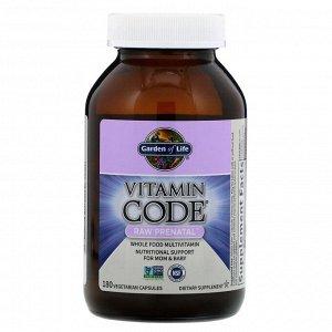 Garden of Life, Vitamin Code, Витаминный код, сырые витамины для беременных, 180 капсул
