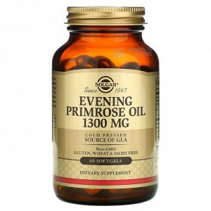 Масло вечерней примулы, 1300 мг,  60 мягких капсул