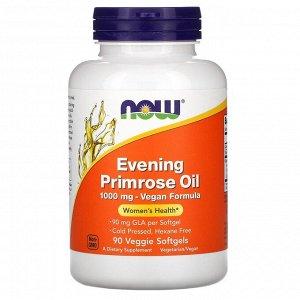 Now Foods, масло первоцвета вечернего, 1000 мг, 90 капсул