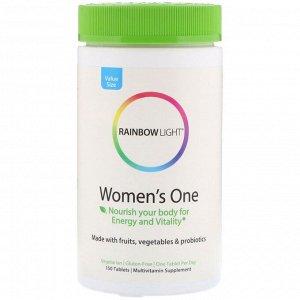 Rainbow Light, Women's One Daily, витамины для женщины, 150 таблеток