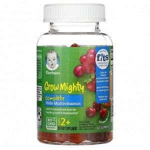 Gerber, Grow Mighty, мультивитаминный комплекс, для детей от 2 лет, 60 жевательных мармеладок