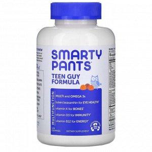 SmartyPants, Teen Guy Formula, пищевая добавка для подростков мужского пола, лимон и лайм, вишня, апельсин, 120 жевательных конфет