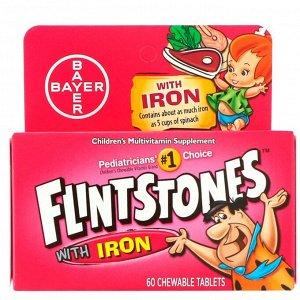 Flintstones, Детский поливитамин с железом, фруктовые вкусы, 60 жевательных таблеток