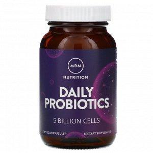 MRM, Nutrition, пробиотики для ежедневной поддержки, 5 млрд клеток, 30 растительных капсул