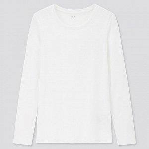 Женская футболка с длинным рукавом, белый