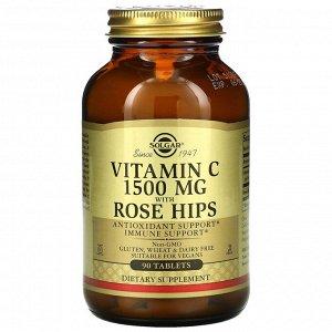 Витамин C, с шиповником, 1500 мг, 90 таблеток