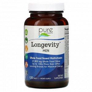 Pure Essence, Longevity Men, 120 таблеток