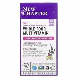 New Chapter, 40+ женские витамины, 96 вегетарианских таблеток