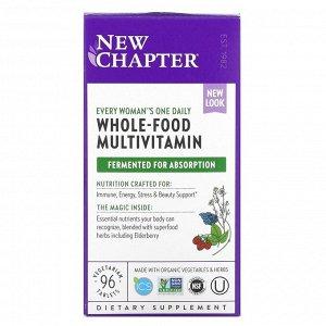 New Chapter,  Комплекс Мультивитаминов для женщин, 96 вегетарианских таблеток