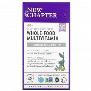 New Chapter, 40+ Мультвитамины для мужчин, 48 вегетарианских таблеток