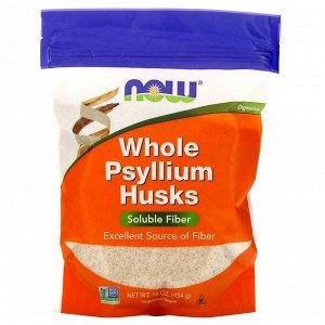 Now Foods, цельная оболочка семян подорожника, 454 г (16 унций)