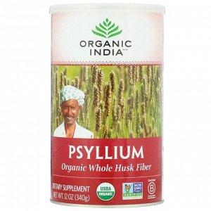 Organic India, Подорожник, клетчатка из шелухи органического подорожника, 340 г (12 унций)