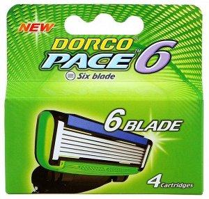 DORCO PACE 6 (4 шт.), кассеты с 6 лезвиями