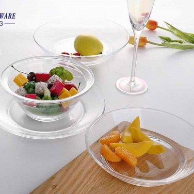 Сковороды чугунные, жаровни, сковороды для подачи — Посуда из стекла — Тарелки
