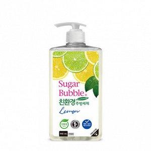 """Экологичное средство для мытья посуды """"Sugar Bubble"""" лимон, 940 мл."""