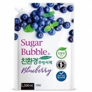 """Экологичное средство для мытья посуды """"Sugar Bubble"""" черника, 1,200 мл."""