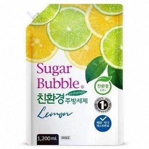 """Экологичное средство для мытья посуды """"Sugar Bubble"""" лимон, 1,200 мл."""