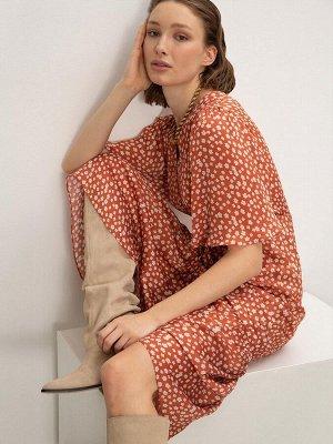 Платье с цветочным принтом PL1129/gloves