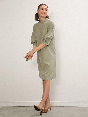 Однотонное платье PL1072/olive