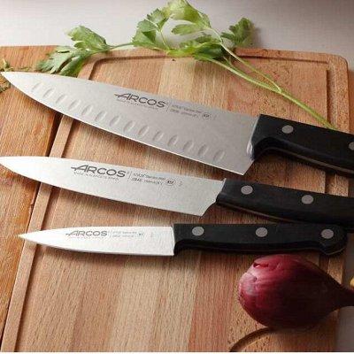 Сковороды чугунные, жаровни, сковороды для подачи — Ножи разделочные, поварские, универсальные и много разных — Ножи и разделочные доски