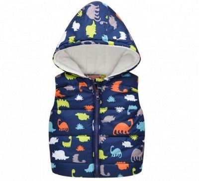 Лови Момент 🥳 Утепленная Детская жилетка с капюшоном за 540р