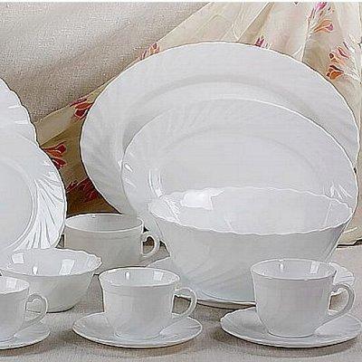 Сковороды чугунные, жаровни, сковороды для подачи — Стеклокерамика белая и черная — Тарелки