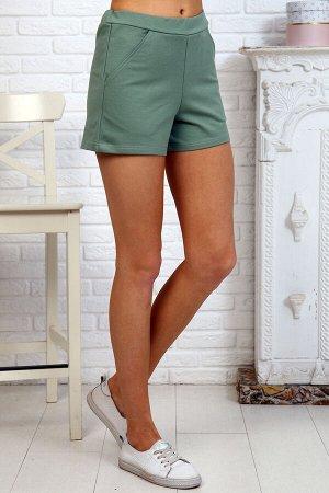Шорты Ткань футер с лайкрой 2-х нитка Состав 74% хлопок, 20% п/э, 6% лайкра Описание Шорты женские из футера цвета ментол или сухая роза. Удобные, легко комплектуются со светлыми футболками или майкам