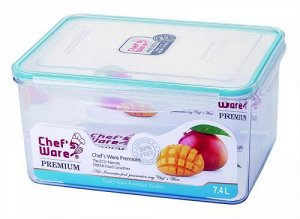 Тритановый контейнер с замками BPA FREE FL-072 7.4 л
