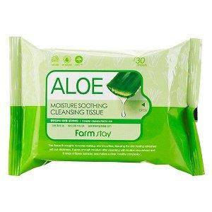 Aloe Moisture Soothing Cleansing Tissue Салфетки для снятия макияжа с алоэ
