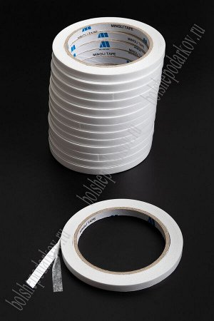 Скотч двухсторонний 0,8 см*18,3 м SF-2444, белый