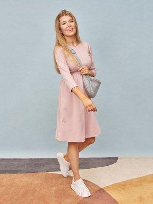 """Платье """"Алиша"""" для беременных и кормящих; пудровый"""